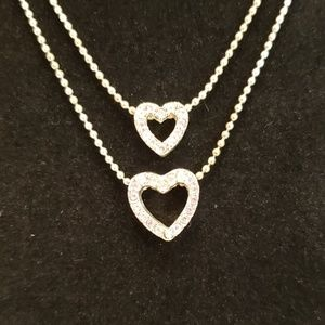 Avon silver plated 2 strand necklace